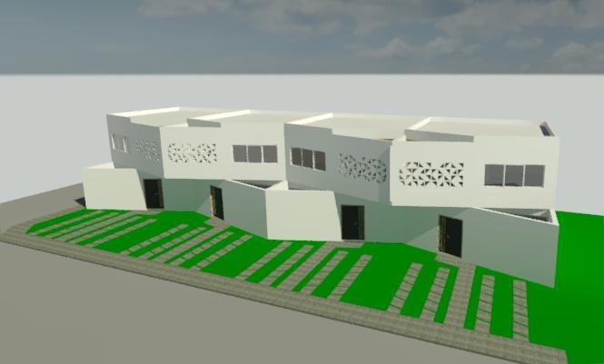 Fachada Origam Townhouses