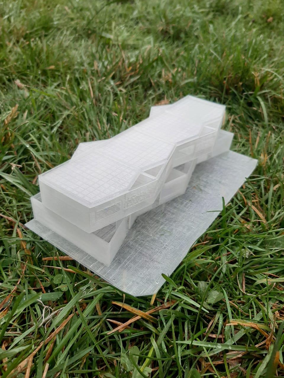 Modelo con impresión 3d arquitectura 3
