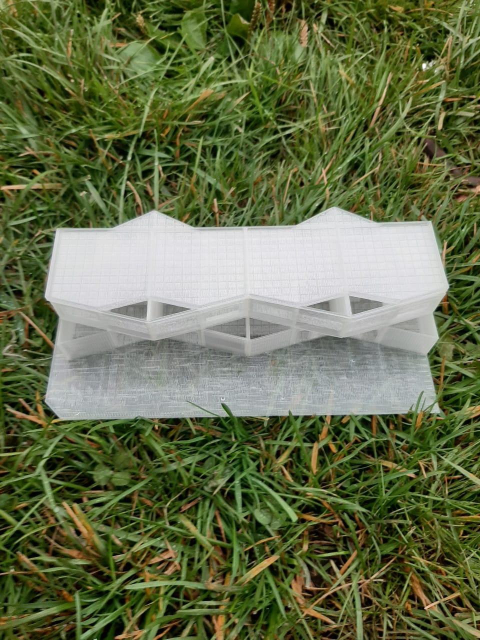 Modelo con impresión 3d architecture 4