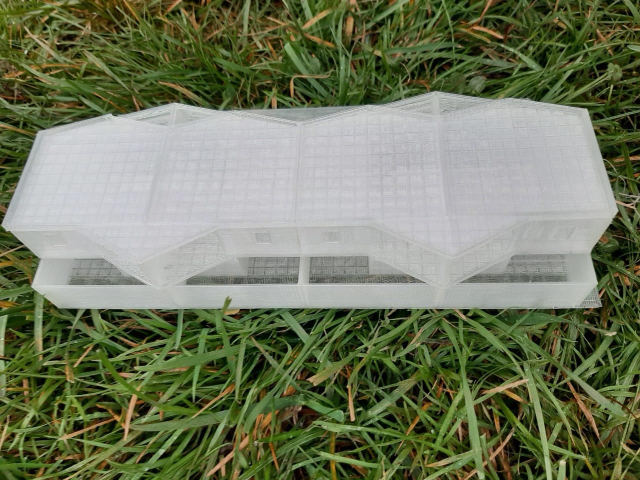 Modelo con impresión 3d architecture 5